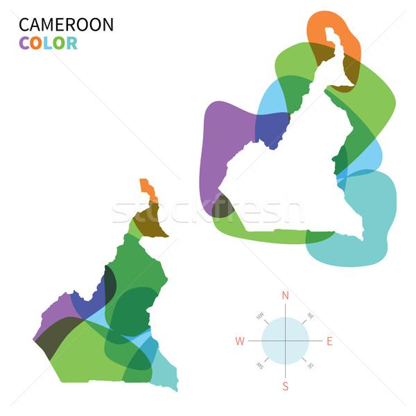 Abstrato vetor cor mapa Camarões transparente Foto stock © tkacchuk