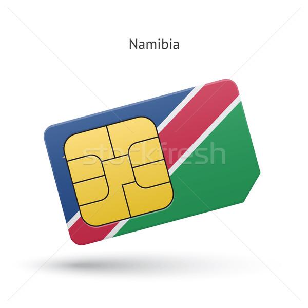 Namibia teléfono móvil tarjeta bandera negocios diseno Foto stock © tkacchuk