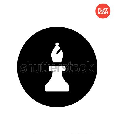 Stock photo: Chess Bishop simple icon on white background.