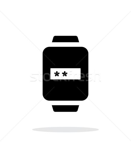 Wachtwoord smart horloge eenvoudige icon witte Stockfoto © tkacchuk