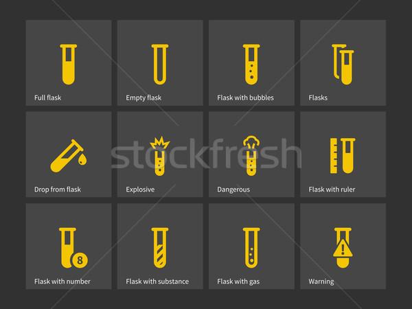 Laboratory test tube icons. Stock photo © tkacchuk