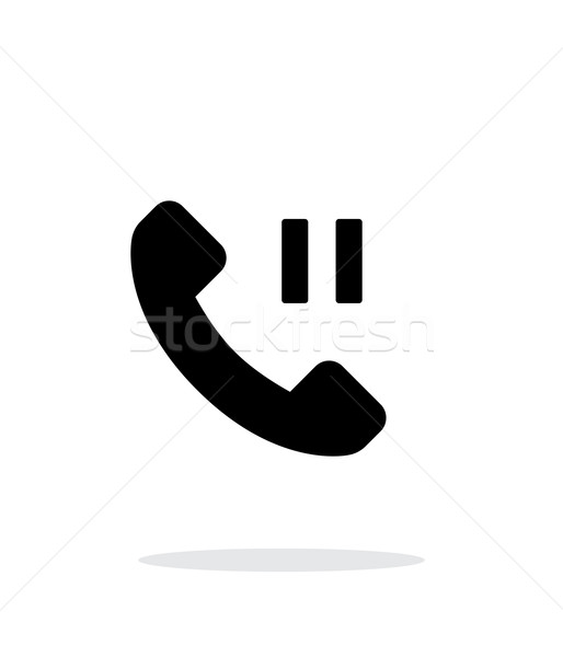 Phone call pause simple icon on white background. Stock photo © tkacchuk