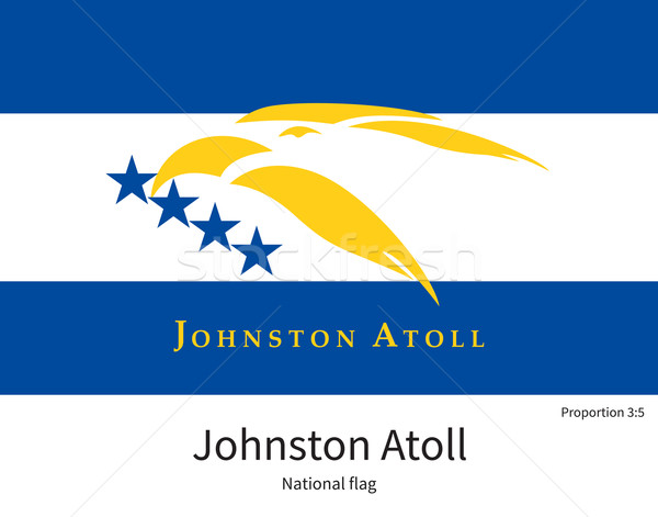 National flag of Johnston Atoll with correct proportions, element, colors Stock photo © tkacchuk