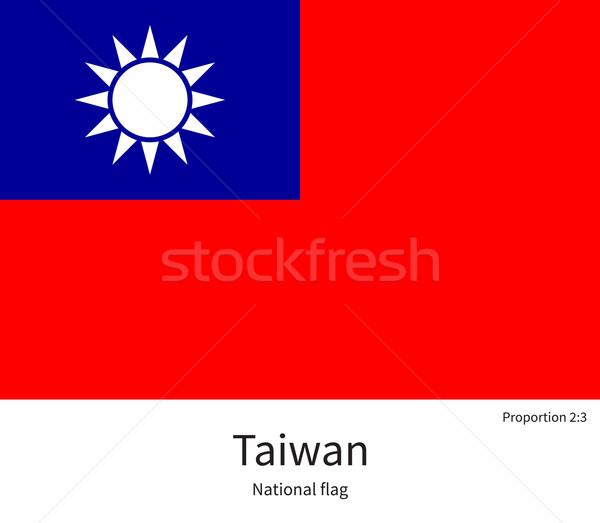 Bandeira Taiwan corrigir elemento cores educação Foto stock © tkacchuk