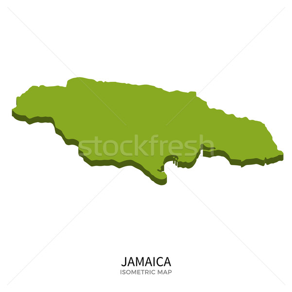 Isometric map of Jamaica detailed vector illustration Stock photo © tkacchuk