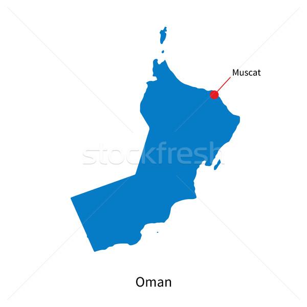 Detallado vector mapa Omán ciudad educación Foto stock © tkacchuk