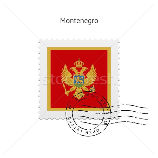 Montenegro Flag Postage Stamp. Stock photo © tkacchuk