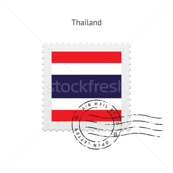 Thailand Flag Postage Stamp. Stock photo © tkacchuk