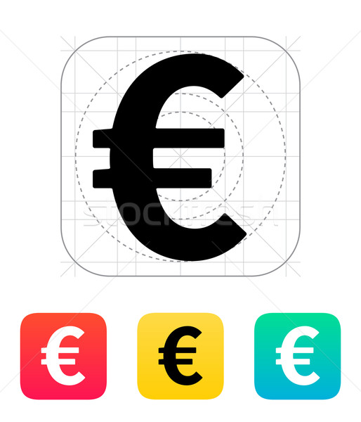 Euro icon. Stock photo © tkacchuk
