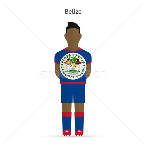 Belize futballista futball egyenruha absztrakt fitnessz Stock fotó © tkacchuk