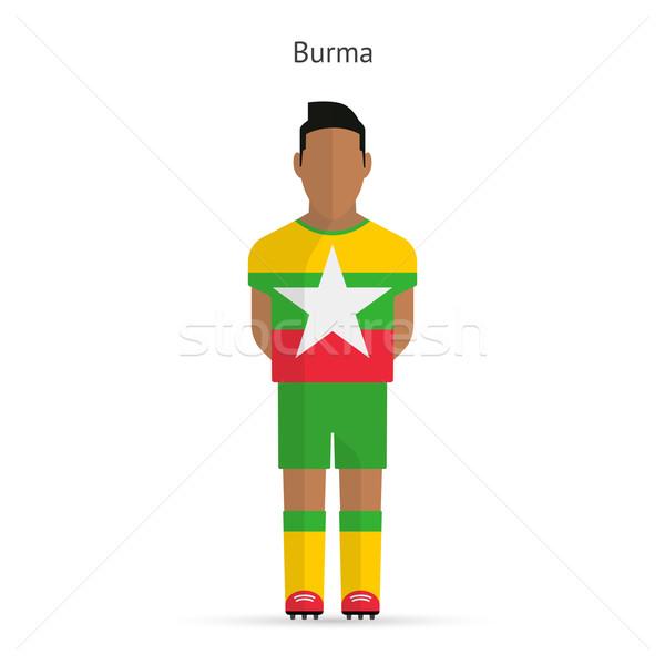 Birma voetballer voetbal uniform abstract fitness Stockfoto © tkacchuk