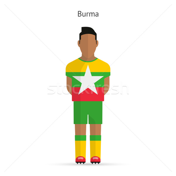 Birmânia futebol uniforme abstrato fitness Foto stock © tkacchuk
