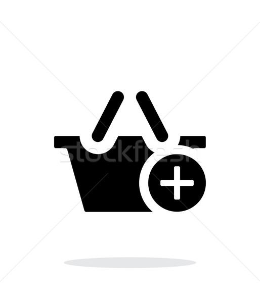 Bevásárlókosár meg egyszerű ikon fehér terv Stock fotó © tkacchuk