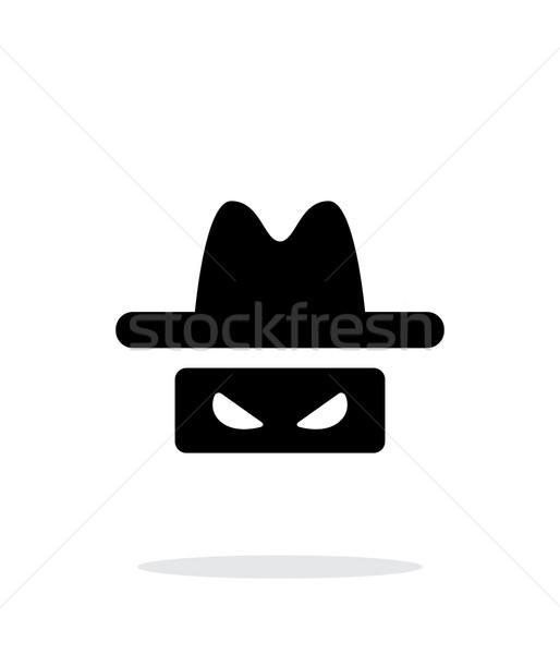 Espião ícone branco homem projeto segurança Foto stock © tkacchuk