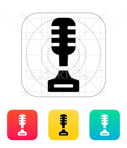 Cantante icono blanco música diseno tecnología Foto stock © tkacchuk
