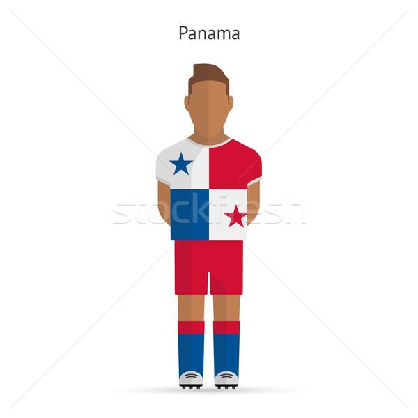 Panama futballista futball egyenruha absztrakt fitnessz Stock fotó © tkacchuk