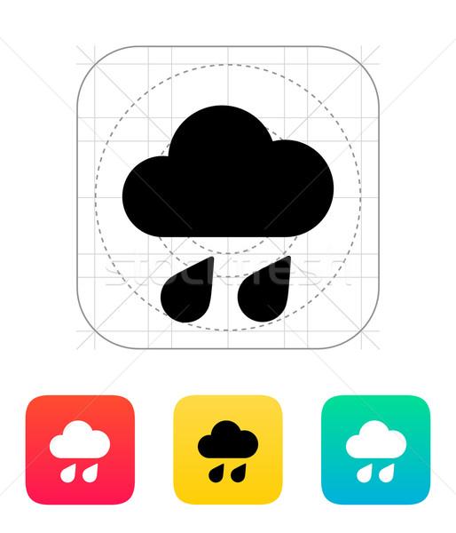 Downpour weather icon. Stock photo © tkacchuk