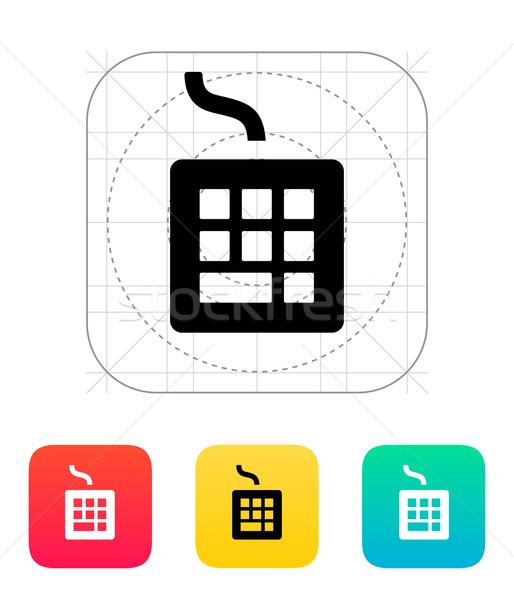 Wired keyboard icon. Stock photo © tkacchuk