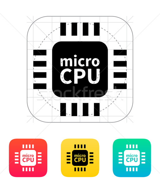 Mikro cpu Symbol Vektor Illustration Internet Stock foto © tkacchuk