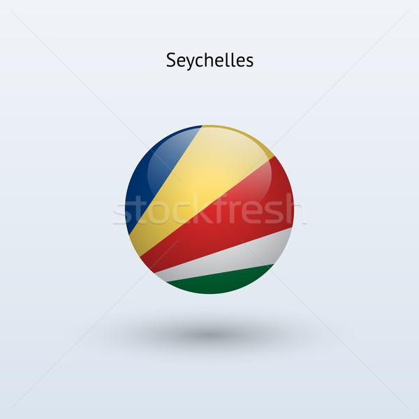Seychelles round flag. Vector illustration. Stock photo © tkacchuk