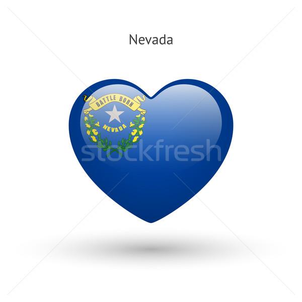 Sevmek Nevada simge kalp bayrak ikon Stok fotoğraf © tkacchuk