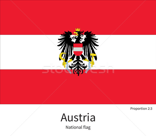 National flag of Austria with correct proportions, element, colors Stock photo © tkacchuk