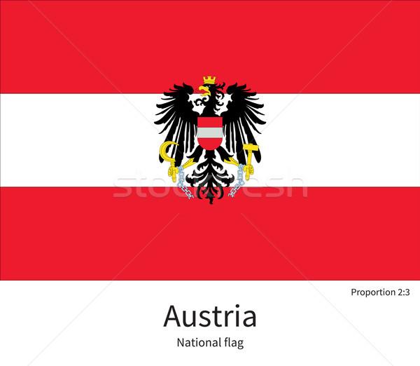Bayrak Avusturya düzeltmek renkler eğitim Stok fotoğraf © tkacchuk