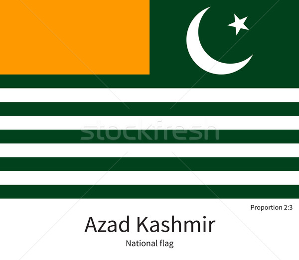 National flag of Azad Kashmir with correct proportions, element, colors Stock photo © tkacchuk