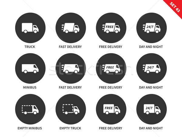 Delivery icons on white background Stock photo © tkacchuk
