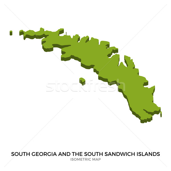 Isometric map of South Georgia and the South Sandwich Islands detailed vector illustration Stock photo © tkacchuk
