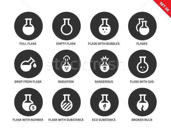 Icone bianco vettore chimica Foto d'archivio © tkacchuk