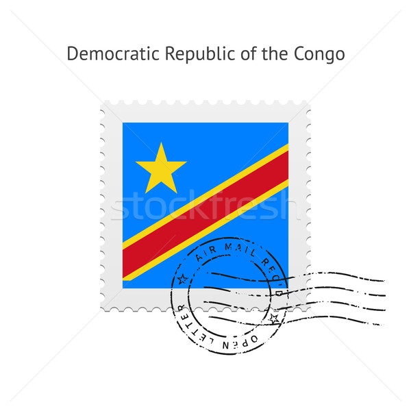 Democratic Republic of the Congo Flag Postage Stamp. Stock photo © tkacchuk