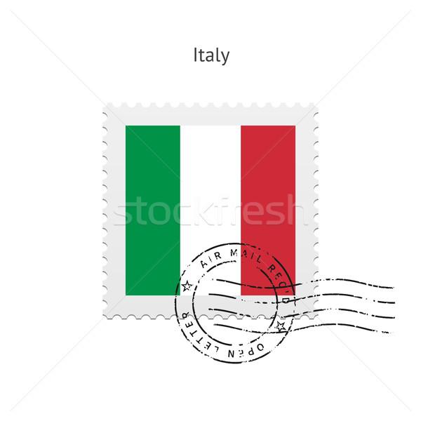 Italy Flag Postage Stamp. Stock photo © tkacchuk