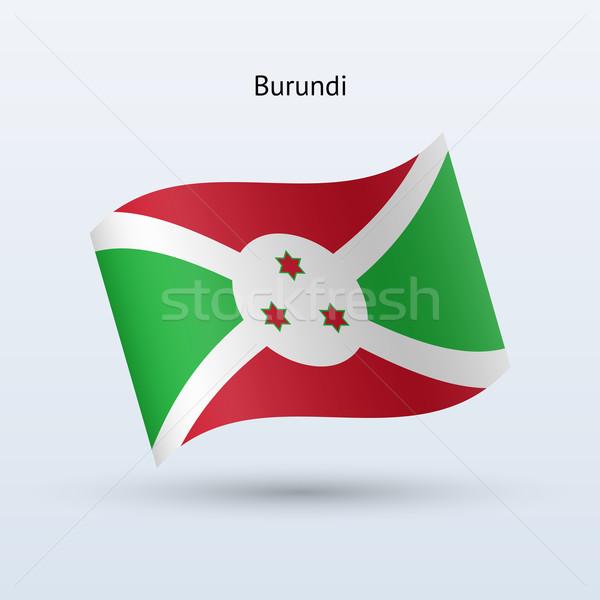 Burundi bandeira forma cinza assinar Foto stock © tkacchuk