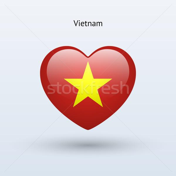 Amore Vietnam simbolo cuore bandiera icona Foto d'archivio © tkacchuk