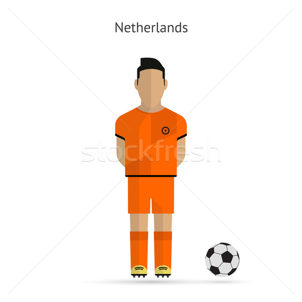 National football player. Netherlands soccer team uniform. Stock photo © tkacchuk
