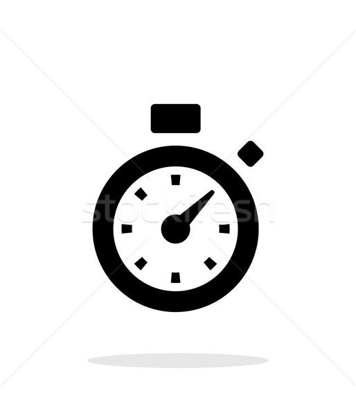 Cronômetro ícone branco escritório mão relógio Foto stock © tkacchuk
