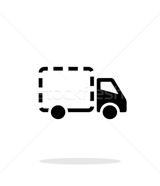 Boş teslim kamyon ikon beyaz Internet kamyon Stok fotoğraf © tkacchuk