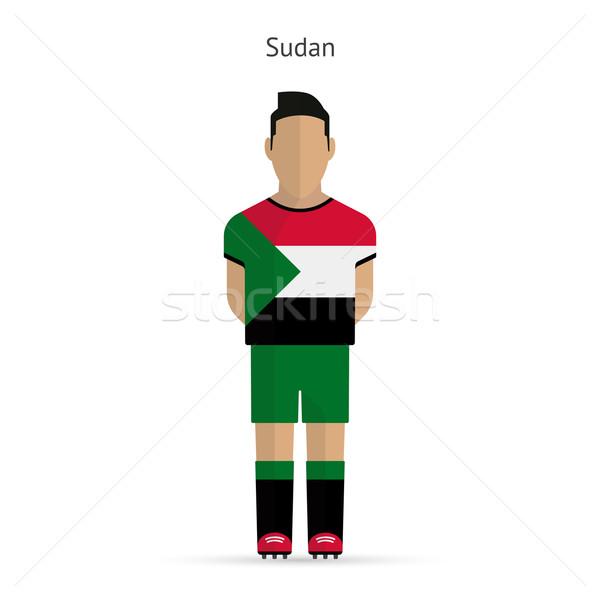 Szudán futballista futball egyenruha absztrakt fitnessz Stock fotó © tkacchuk