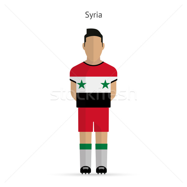 Syrië voetballer voetbal uniform abstract fitness Stockfoto © tkacchuk