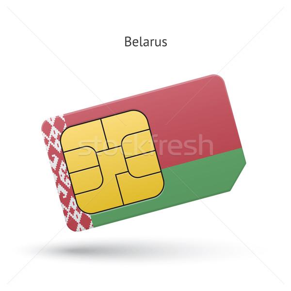 Belarus mobile phone sim card with flag. Stock photo © tkacchuk