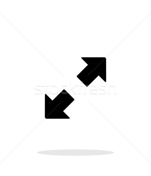 Fullscreen simple icon on white background. Stock photo © tkacchuk