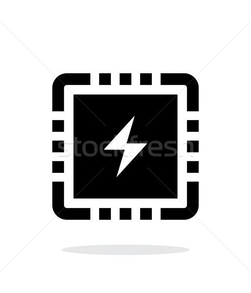 Cpu potere semplice icona bianco rete Foto d'archivio © tkacchuk