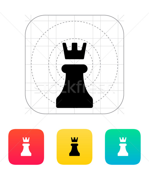Chess Rook icon. Stock photo © tkacchuk