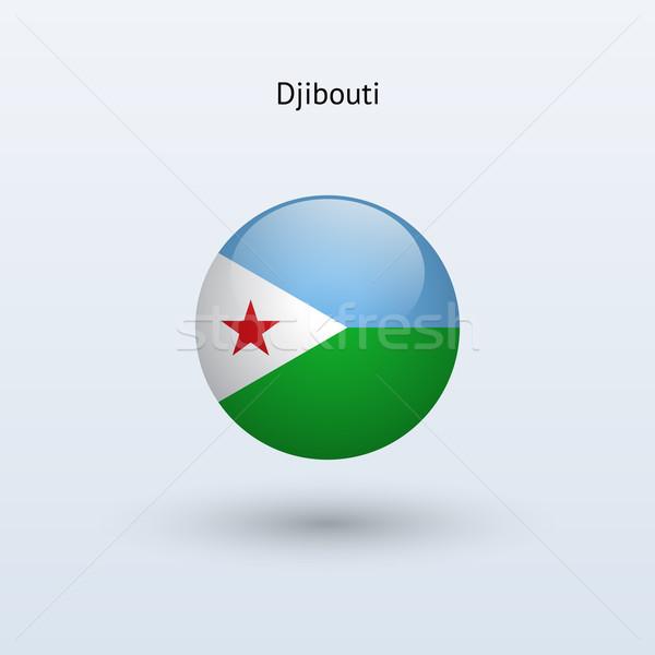 Dżibuti banderą szary podpisania internetowych podróży Zdjęcia stock © tkacchuk