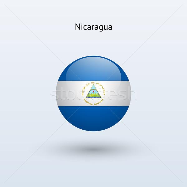 Nikaragua banderą szary podpisania internetowych podróży Zdjęcia stock © tkacchuk