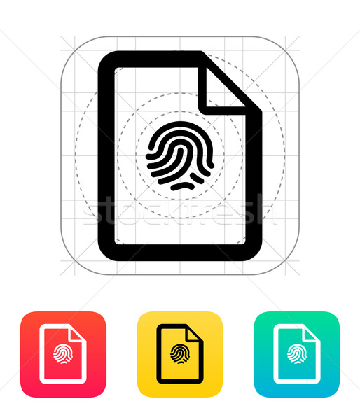 Fingerprint on file icon. Stock photo © tkacchuk