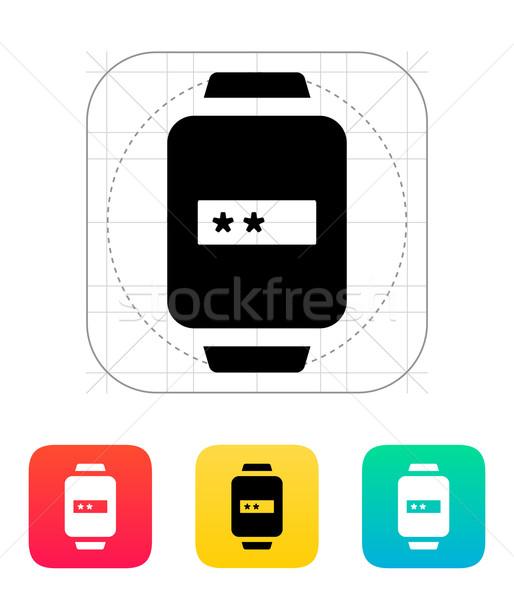 Senha inteligente ver ícone telefone futuro Foto stock © tkacchuk