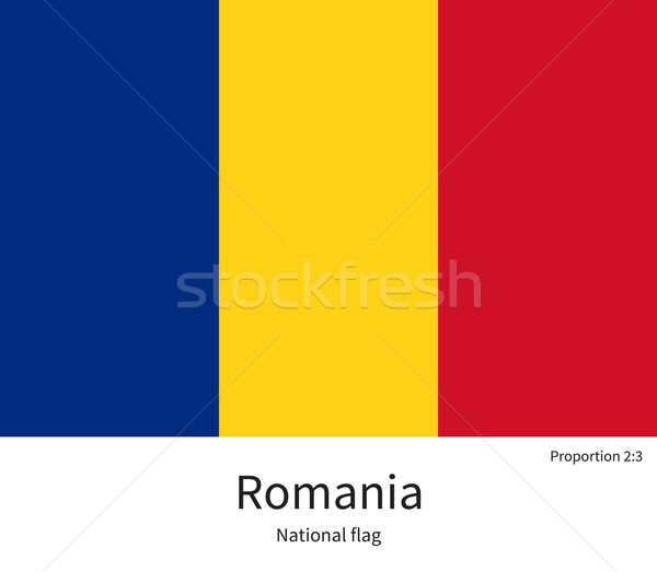 National flag of Romania with correct proportions, element, colors Stock photo © tkacchuk