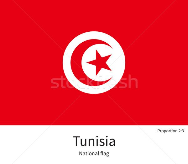 Bandeira Tunísia corrigir elemento cores educação Foto stock © tkacchuk